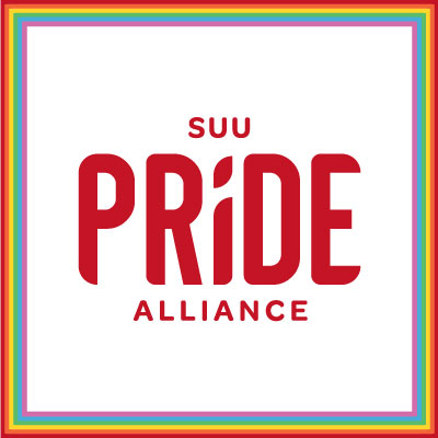 SUU Pride Alliance logo on a light pink background
