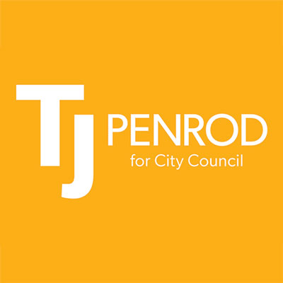 TJ for Cedar City Council on gold background