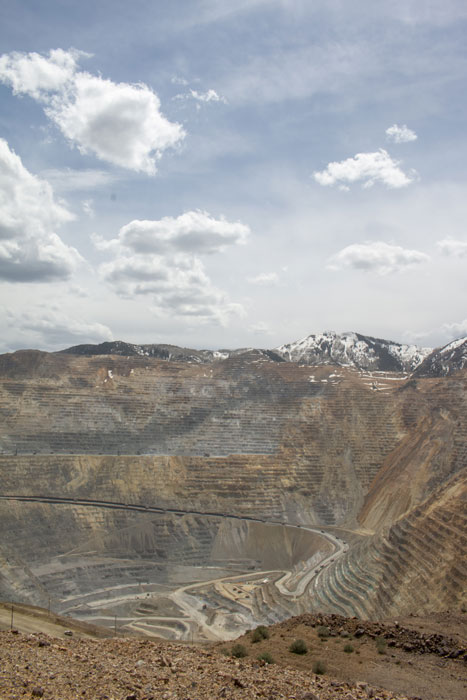 A view looking down into the Bingham Canyon mine in northern Utah